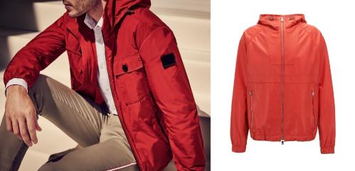 Ngoài áo khoác tối màu, các chàng cũng có thể lựa chọn những sắc màu rực rỡ hơn như đỏ, vàng, cam... để thêm phần nổi bật nhưng vẫn mạnh mẽ, thanh lịch.