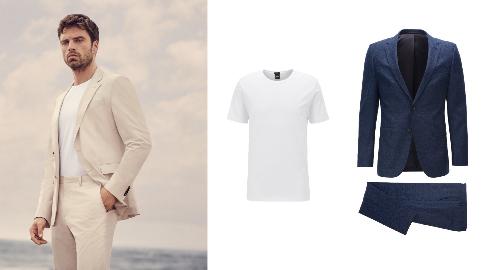 Những chuyến đi không chỉ bao gồm các kỳ nghỉ mà còn là những chuyến công tác, sự kiện khai trương của đối tác, hay một buổi tiệc cưới lãng mạn bên bờ biển. Và trong những dịp đặc biệt ấy, bạn có thể chọn cho mình những bộ suit mùa xuân - hè của BOSS. Các trang phục mùa này mang cảm hứng biển khơi, trở nên phóng khoáng và dịu mát với kiểu dáng thả lỏng, mềm mại hơn trên chất liệu vải cotton pha len hay đũi. Ngoài màu xanh navy sang trọng và an toàn, bạn có thể thử những bộ suit sắc màu tươi sáng để hòa nhập với không gian biển.