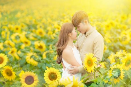Cánh đồng hoa hướng dương là một trong các bối cảnh đẹp nhất phim. Tác phẩm được quay chủ yếuở Đà Lạt và TP HCM, còn với cảnh này, ê-kíp phải đến Nghệ An mới tìm được địa điểm phù hợp.