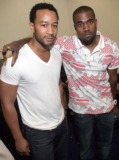 Kanye West và John Legend từng rất thân thiết.
