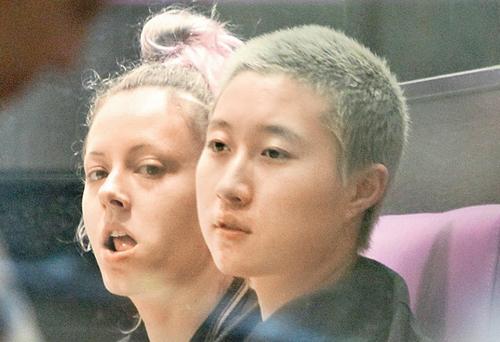 Ngô Trác Lâm và bạn gái.