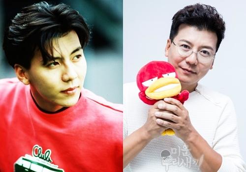 Son Ji Chang ở tuổi 48 (phải) không còn giữ được vẻ điển trai nhưthời trẻ.