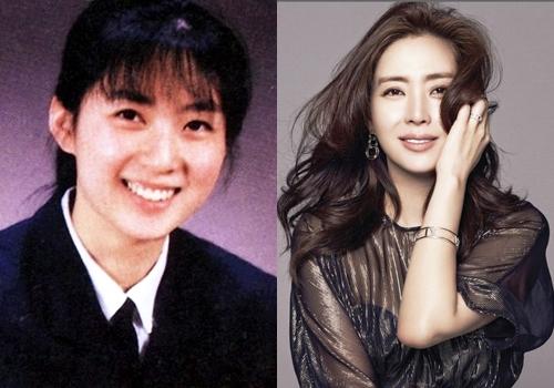 Theo Naver, Song Yoon Ah là một trong những mỹ nhân được fan và truyền thôngsăn đón suốt nửa sau thập niên 1990. Cô sinh năm 1973, từng là hoa khôi Đại học Hanyang. Khi đang học năm cuốikhoa Nhân chủng học văn hóa, cô được một người bạn giới thiệu vào công ty người mẫu. Năm 1995,sau khi thắng ba giải lớn trongcuộc thiSuper Talent Contest của đài KBS,người đẹp ra mắt với vai trò người mẫu, diễn viên. Trong ảnh là Yoon Ah năm 18 tuổi(trái) và hiện tại - 45 tuổi(phải).