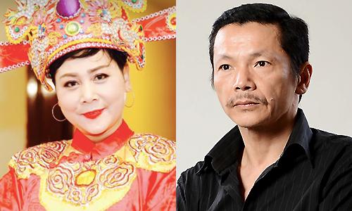 Diễn viên Minh Hằng (trái) và Trung Anh.