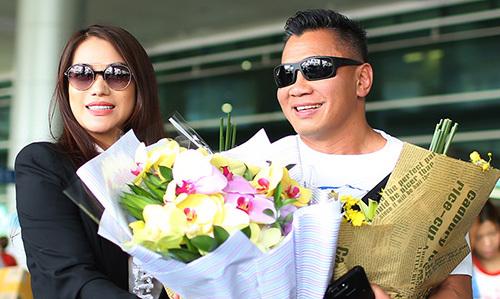 Trương Ngọc Ánh đón Cung Lê đến Việt Nam