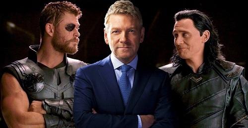 Kenneth Branagh (giữa) là người chọn Chris Hemsworth (trái) và Tom Hiddleston (phải) vào vai Thor và Loki.