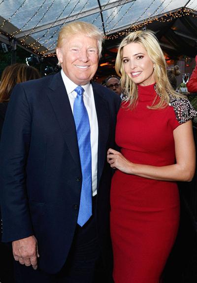 Ivanka Trump và bố - tổng thống Donald Trump.