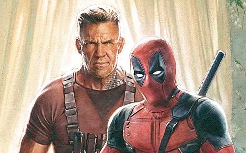Deadpool và Cable trên poster phim.