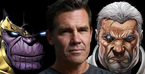 Sau khi hóa thân Thanos (trái) trong Avengers: Infinity War, Josh Brolin sẽ tiếp tục tham giam gia một phim siêu anh hùng khác. Tài tử sinh năm 1968 sẽ đóng vai Cable (phải) - nhân vật bí ẩn trong Deadpool 2.