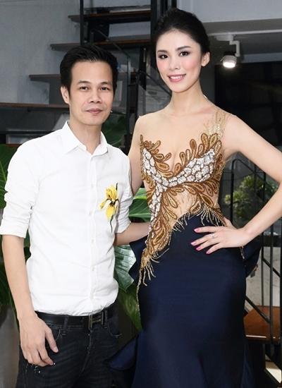 Hoa hậu Hoàn vũ 2007 Ryo Mori bên Hoàng Hải năm 2017.