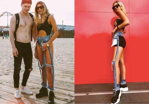 Quần jeans hở hết vòng ba 'cháy' hàng ở Mỹ