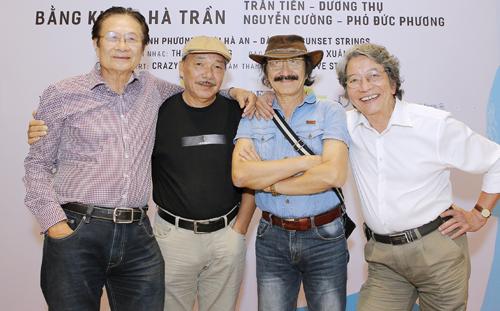 Bộ tứ sông Hồng (từ trái sang): Dương Thụ, Trần Tiến, Nguyễn Cường, Phó Đức Phương.