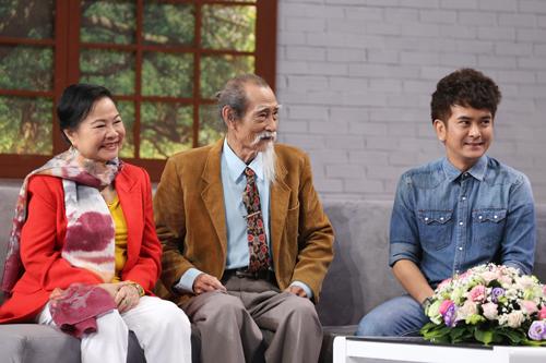 Vợ chồng Mạnh Dung (trái) và diễn viên Hùng Thuận.