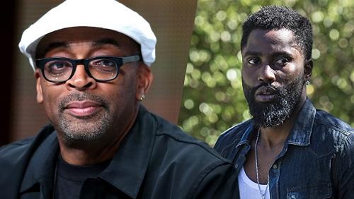 Spike Lee (trái) và nam chínhJohn David Washington.