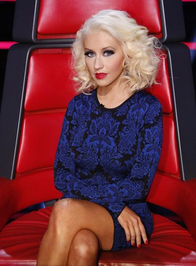 Christina Aguilera trên ghế nóng The Voice US.