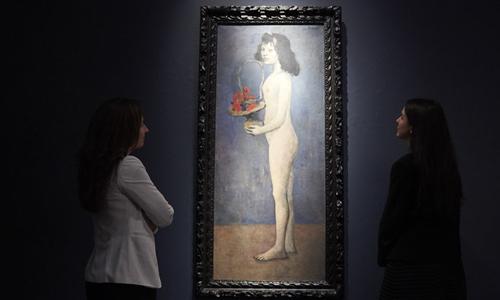 Bức Cô gái trẻ với một giỏ hoa của Picasso.