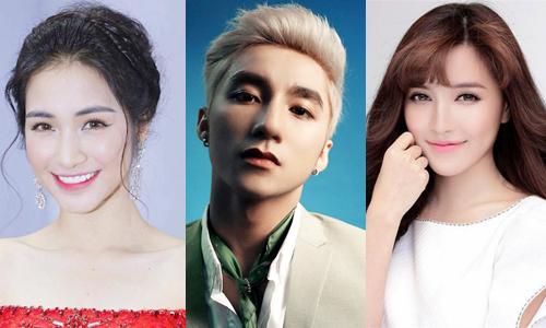 Hòa Minzy, Sơn Tùng M-TP và Bích Phương (từ trái qua) là ba gương mặt gây chú ý trên đường đua V-Pop tháng 5.
