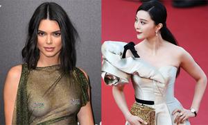 Cannes ngày 4: Kendall Jenner hở ngực, Phạm Băng Băng khoe vai trần