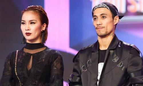 Phạm Lịch (trái) và Phạm Anh Khoa trong chương trình Trời sinh một cặp.