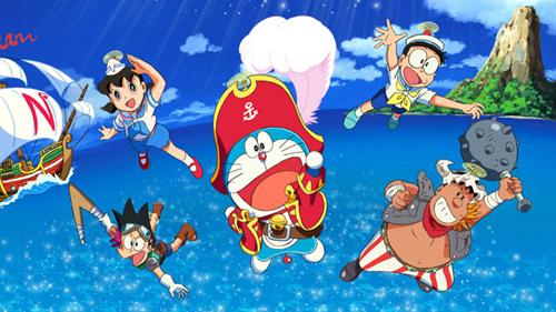 Nhóm năm người bạn quen thuộc của loạt phim hoạt hình Doraemon.