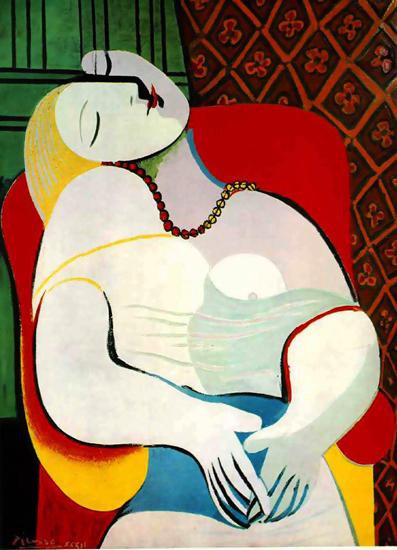 Bức The Dream của Picasso.