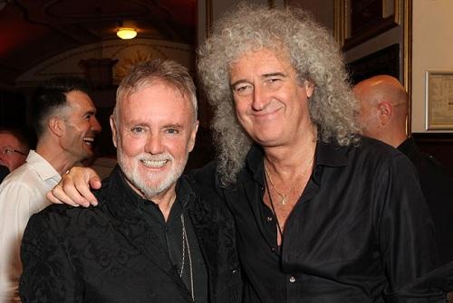 Roger Taylor (trái) và Brian Queen - hai thành viên nhóm Queen - sẽ là nhà sản xuất âm nhạc cho phim điện ảnh.