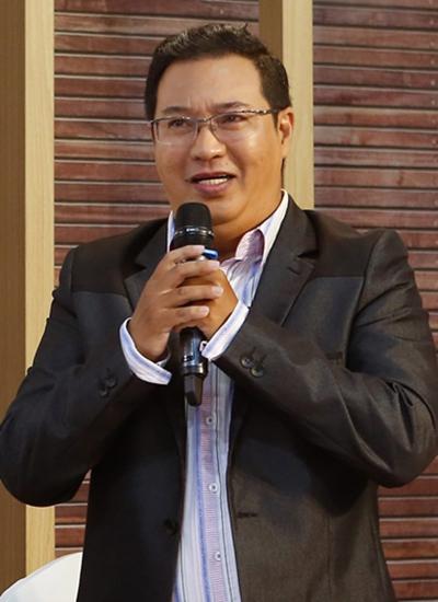 Nghệ sĩ hài Hà Linh tại buổi ra mắt Sao nối ngôi mùa ba.