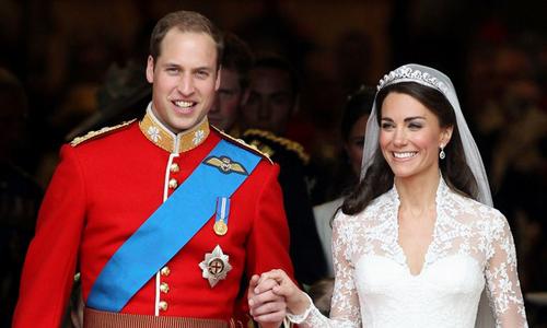 Hoàng tử William và Công nươngCatherine Middleton.