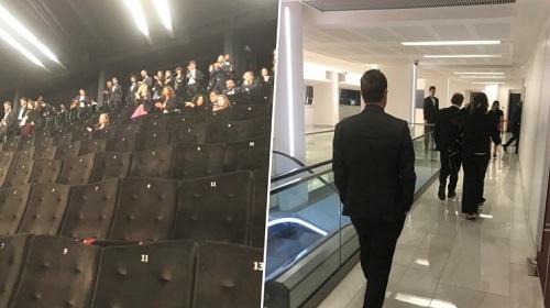 Nhiều khán giả rời khỏi buổi chiếu phim The House That Jack Built.