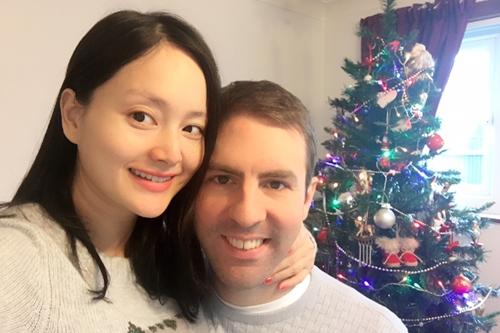 Lan Phương đón Noel đầu tiên cùng bạn trai vào tháng 12/2017 khi thăm bố mẹ người yêu ở nhà anh ấy ở thành phố Sheffield, Anh.