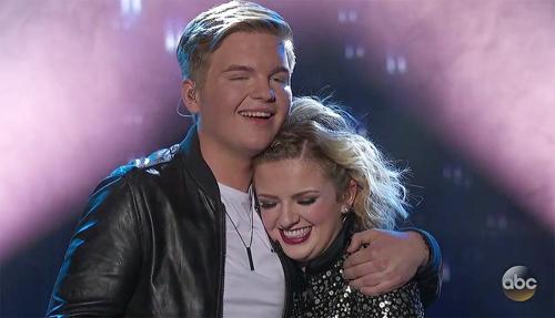 Maddie và bạn trai Caleb là Top 2 của American Idol năm nay.