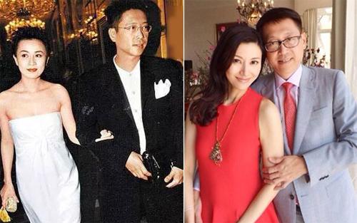 Tỷ phú Hứa Tấn Hanh bên Lưu Gia Linh (trái). Sau một lần đò, doanh nhân kết hôn với người đẹp Lý Gia Hân.