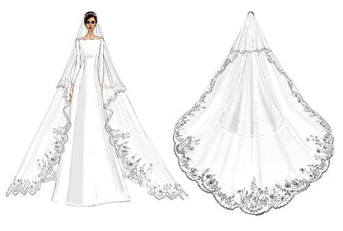 Bản phác thảo váy cưới của Meghan