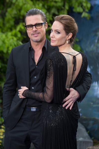Brad Pitt và Angelina Jolie khi còn bên nhau.