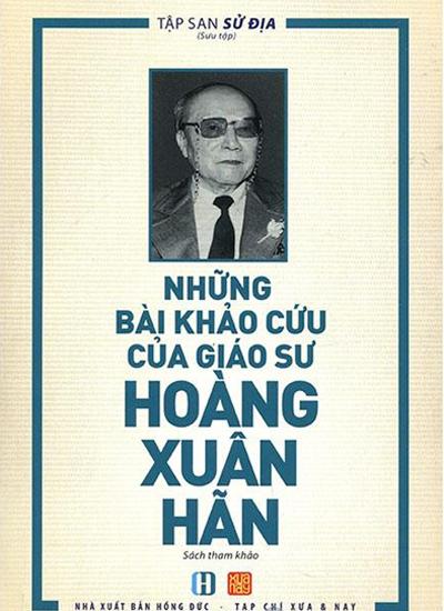Bìa cuốn Những bài khảo cứu của giáo sư Hoàng Xuân Hãn.