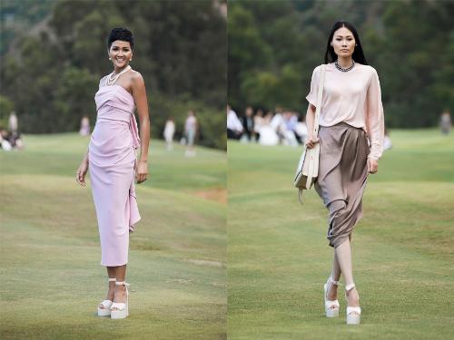 NTK Đỗ Mạnh Cường mix&match trang sức ngọc trai với những trang phục mang tone pastel thể hiện sự phóng khoáng, hiện đại.