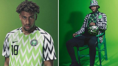 Mẫu áo số của Nigeria tại World Cup được đặt mua tới ba triệu chiếc chỉ sau vài phút đăng lên website. Ảnh: Guardian.
