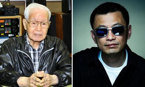 Đạo diễn Vương Gia Vệ thương tiếc nhà văn Lưu Dĩ Sưởng (trái).