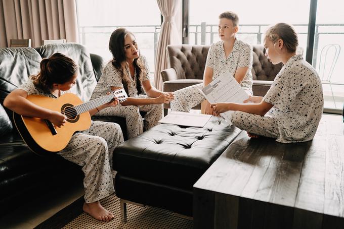 Ba nhóc tỳ của cựu người mẫu Ngọc Nga