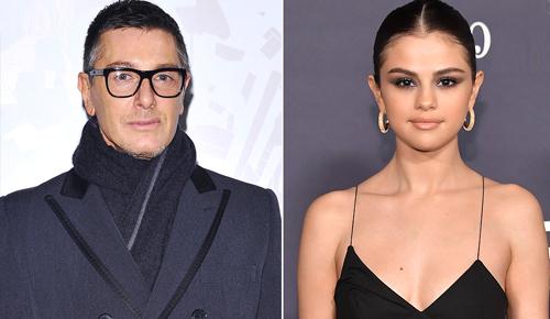 Nhà thiết kế Stefano Gabbana và Selena Gomez.