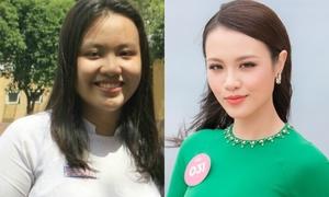 Cô gái giảm 32 kg trước khi thi Hoa hậu Việt Nam 2018