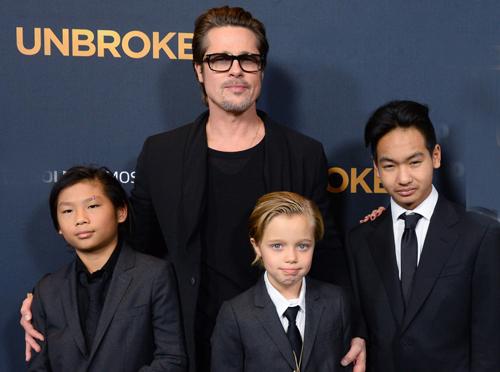 Brad Pitt có nhiều cơ hội được ở bên con so với trước đây. Ảnh: Startraksphoto.