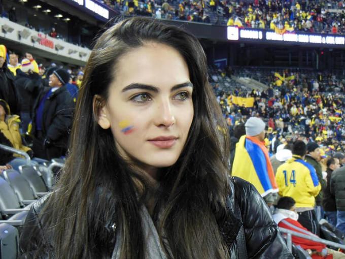 Mỹ nhân Colombia bất ngờ nổi tiếng nhờ World Cup