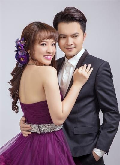 Nam Cường và vợ.