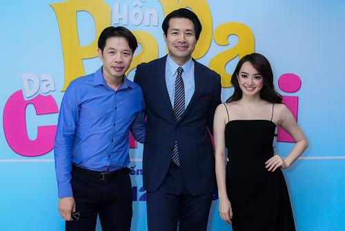 Từ trái sang: Thái Hòa, đạo diên Ken Ochiai và Kaity Nguyễn.