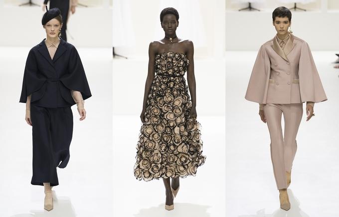 Người mẫu Dior theo mốt ngực trần khi trình diễn đồ xuyên thấu