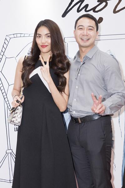 Lan Khuê và bạn trai John Tuấn Nguyễn trong một sự kiện mới đây.