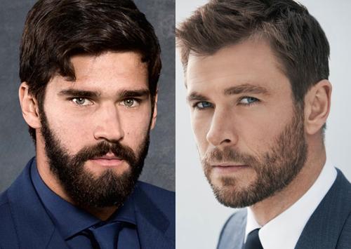 Trên Twitter, người hâm mộ đồng loạt nhận xét anh giống nam tài tử Chris Hemsworth (phải), người thủ vai thần Thor trong loạt phim Avengers. Cả hai đều để râu quai nón, có cơ thể rắn rỏi, nam tính. Anh ấy là người anh em thứ tư của Chris, Liam và Luke Hemsworth, một fan bình luận.