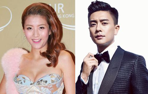 Huỳnh Tông Trạch và người mẫu Trần Gia Hằng.