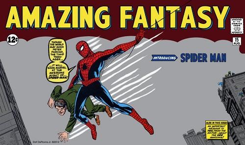 Bía truyện đầu tiên về Spider-Man.